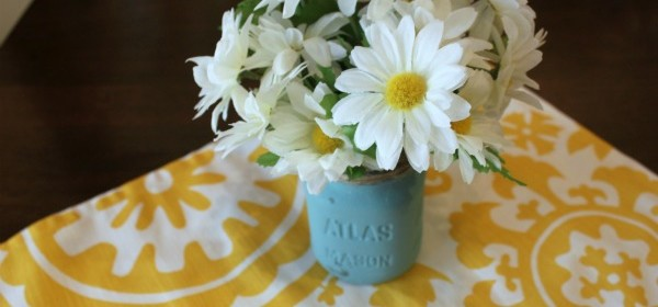 Chalk Paint & Twine Mason Jar