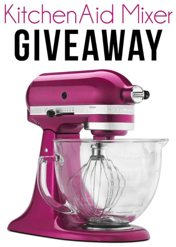 KitchenAid Mixer & Amazon Gift Card Giveaway via www.waittilyourfathergetshome.com #giveaway #kitchenaid