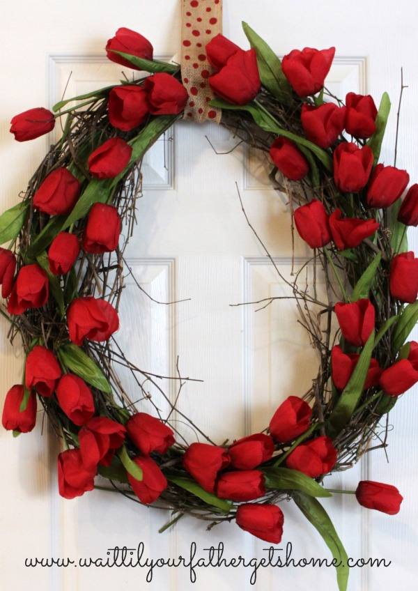 Tulip & Grapevine Wreath