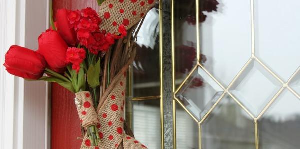 Burlap & Floral Grapevine Wreath