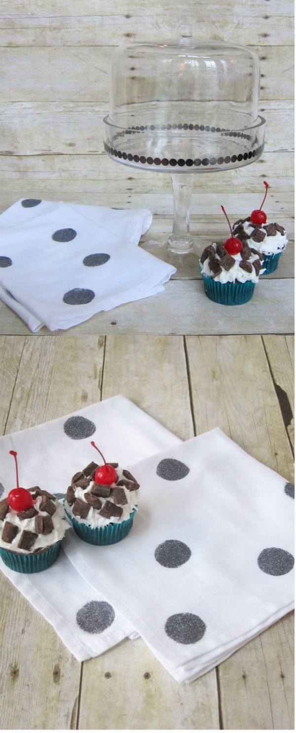 Decoupage-Dots-Cupcake-Stand-and-Napkins