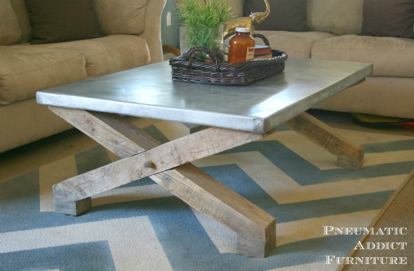 Zinc Top Coffee Table1