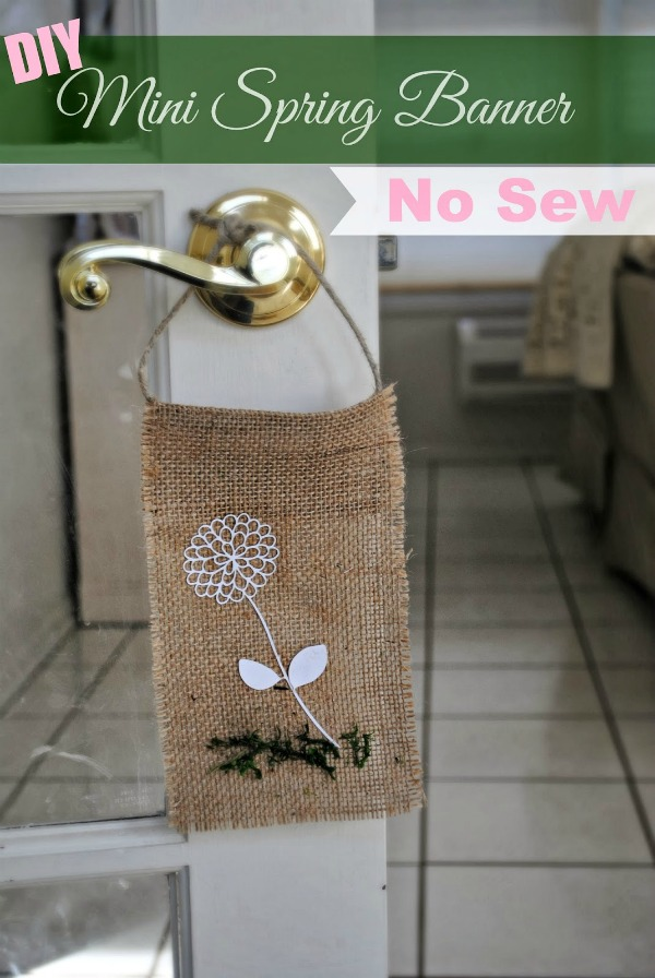 no sew spring banner