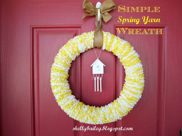 spring yarn wreath cover