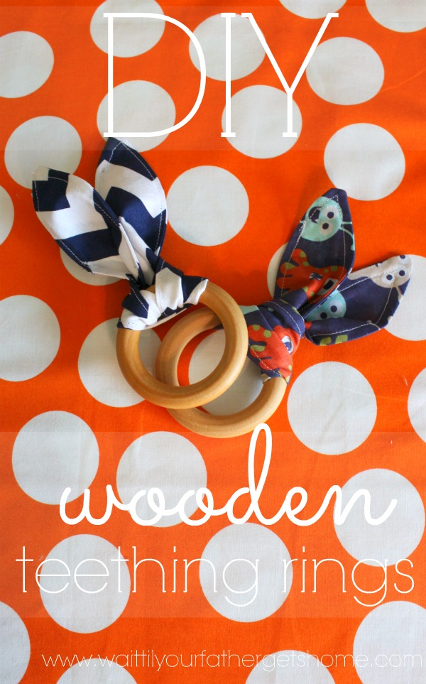DIY Wooden Teething Rings from Wait Til Your Father Gets Home #teethingring #DIY #baby #teether