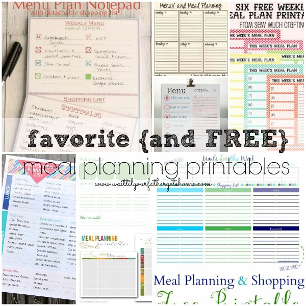 Meal Planning Printables & Couponing Tips for the Busy Mom from Wait Til Your Father Gets Home #couponing #coupon #frugalliving #grocery