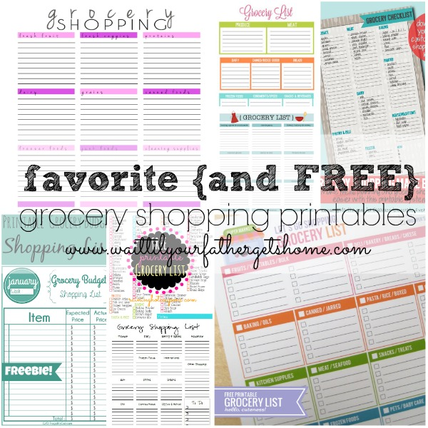 Grocery Shopping Printables & Couponing Tips for the Busy Mom from Wait Til Your Father Gets Home #couponing #coupon #frugalliving #grocery