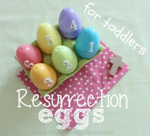 Resurrection Eggs for Toddlers from Wait Til Your Father Gets Home #Easter #resurrectioneggs #EasterEggs #Christian #toddlers