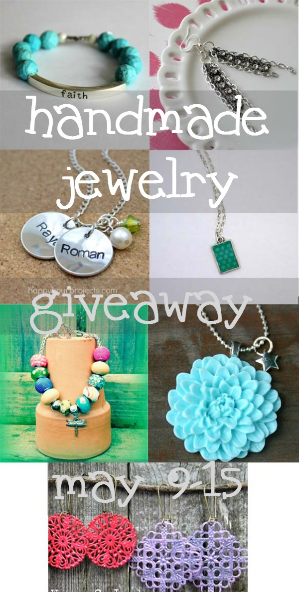 Enter to win a beautiful piece of handmade jewelry from one of your favorite bloggers via the jewelry giveaway Wait Til Your Father Gets Home #giveaway #jewelry #mothersday