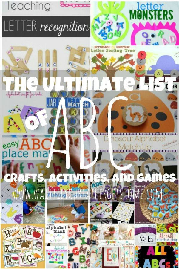 The Ultimate List Of Abc Crafts Activities And Games