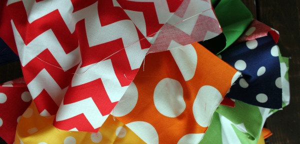 Torn Fabric Birthday Banner