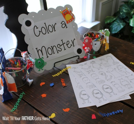 Color a Monster
