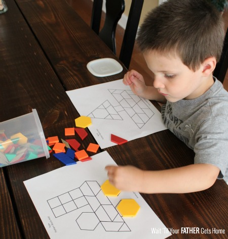 Pattern Block Learning & List of FREE Printables