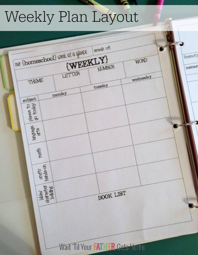 Homeschool Lesson Plan Book Plus Free Printable Plan Pages