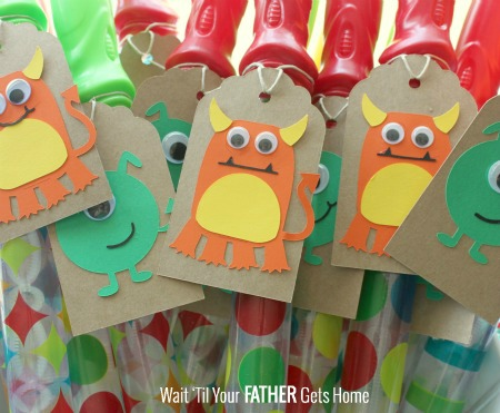 Monster Party Bubble Wand Favors