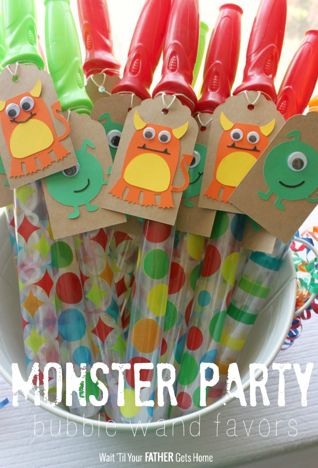 Monster party bubble wand favors wait til your father for Birthday wand
