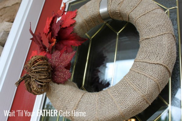 Simple Fall Burlap Wreath