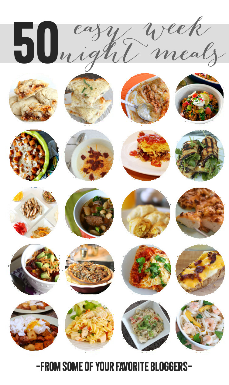 Easy Weeknight Meals via Wait 'Til Your Father Gets Home #recipes #meals #easy