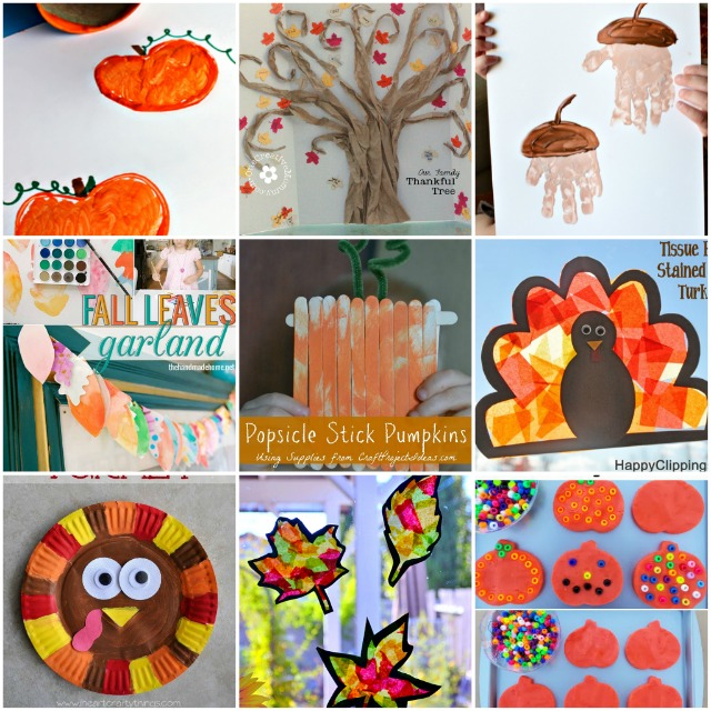 30+ Fall & Thanksgiving Crafts to Keep Kids Busy by Wait 'Til Your Father Gets Home #kidscrafts #fallcrafts #Thanksgivingcrafts