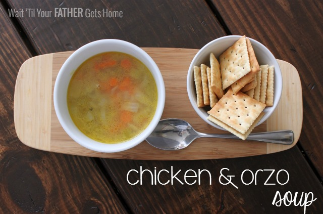 Chicken & Orzo Soup by Wait 'Til Your Father Gets Home #soup #chicken #orzo #recipes
