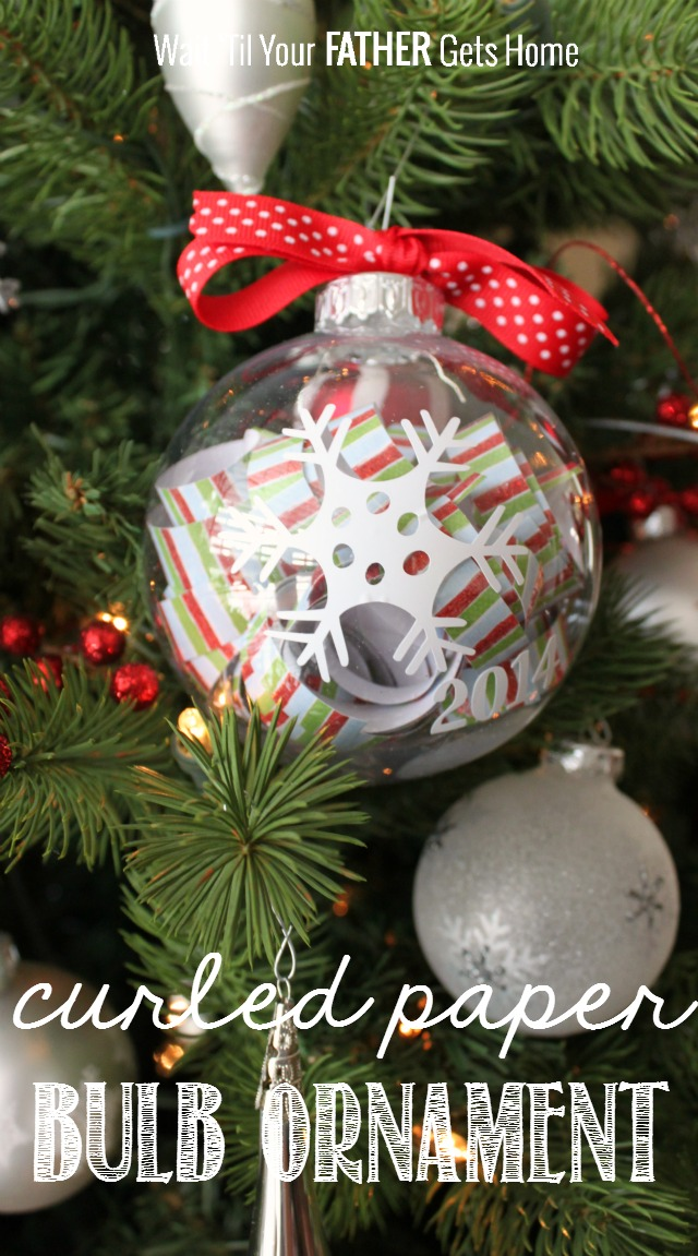 Curled paper bulb ornament wait til your father gets home - Great christmas ornaments that you need for your home ...