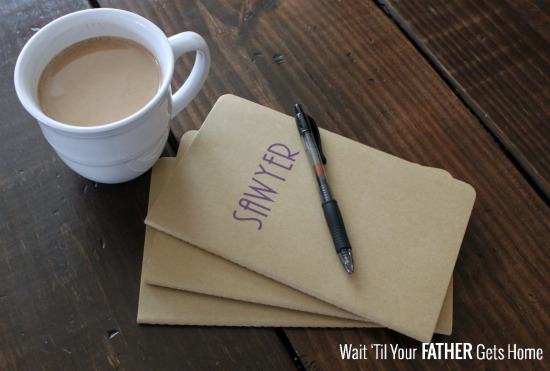 Always remember your little one's cute vocabulary and the funny things he or she says by keeping a Memory Journal for Kids for each of them via Wait 'Til Your Father Gets Home #memoryjournal #keepsakes #kids