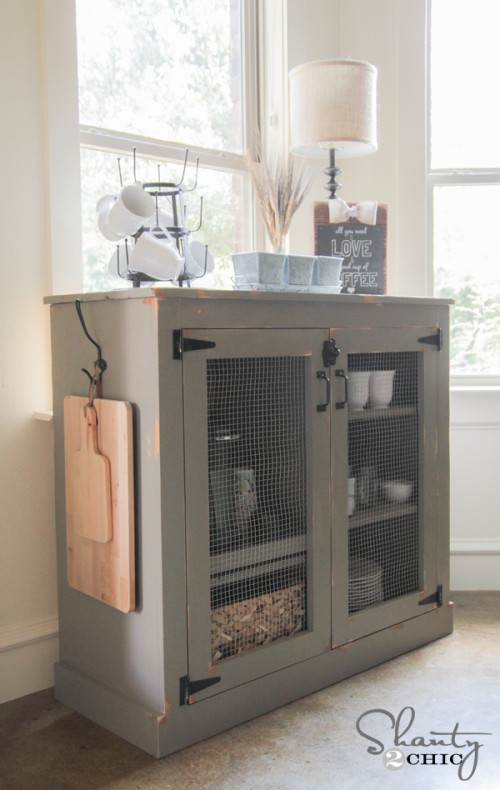 2 Barnwood Kitchen Shelving Ideas on