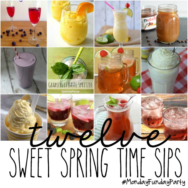 12 Sweet Spring Time Sips via #MondayFundayParty