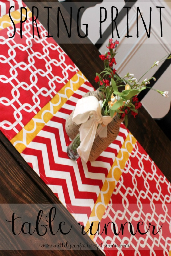 Spring Print Table Runner via Wait Til Your Father Gets Home