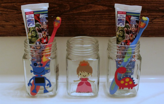 Easy Toothbrush Jars | Expressions Vinyl Blog Hop