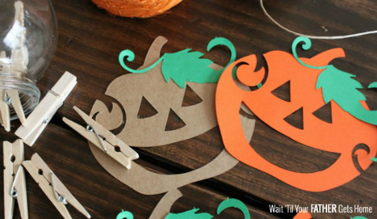 Simple Pumpkin Garland