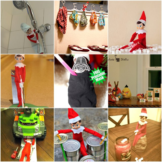Simple Elf on the Shelf Ideas for the Busy Parent Part Two via Wait Til Your Father Gets Home #ElfontheShelf #ChristmasElf #ElfontheShelfIdeas