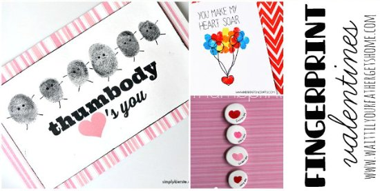 Adorable Fingerprint Valentine Ideas