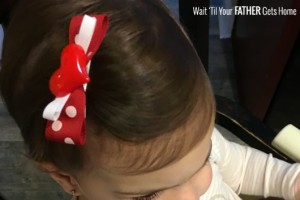 Simple Valentine's Day Inspired Hair Bows via Wait 'Til Your Father Gets Home