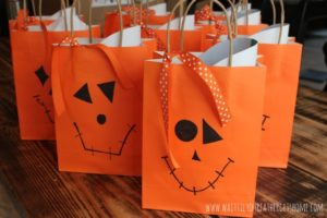 Treat Bags made easy with Oriental Trading & Wait Til Your Father Gets Home blog #sp #Halloween #treatbags #pumpkins #jackolanterns