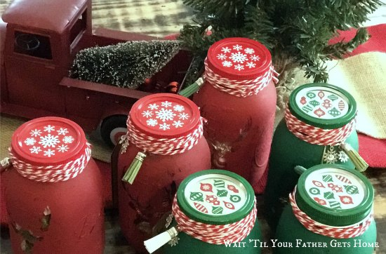 Mason Jar Christmas Candy Gift Idea