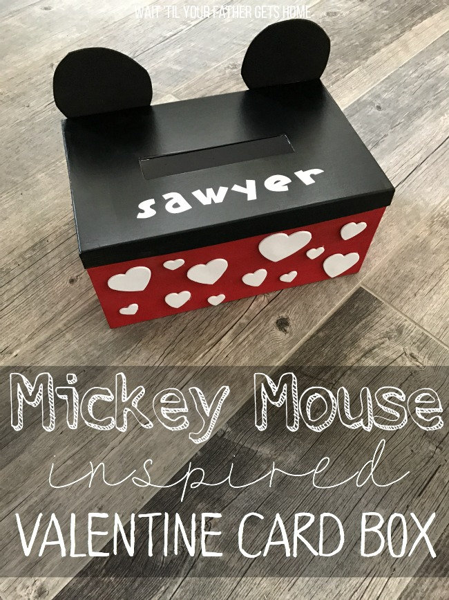 Mickey Mouse Inspired Valentine Box Oriental Trading Wait Til Your Father Gets Home