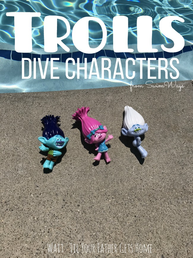 Trolls Dive Characters by Swimways shared by Wait 'Til Your Father Gets Home #ad #SwimWays #summer #pooltoys #pool @SwimWays