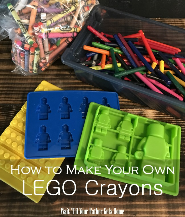 Make your own LEGO crayons via Wait 'Til Your Father Gets Home #summercrafts #summerlearning #easycrafts #coloring #kidscrafts