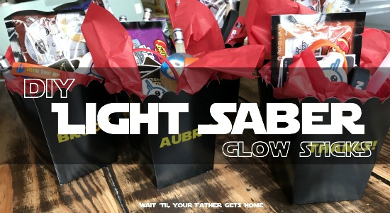 DIY Light Saber Glow Sticks | Treat Boxes