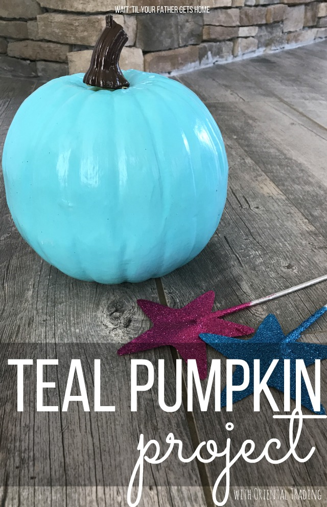 Teal Pumpkin Project goodies available NOW at @OrientalTrading via Wait 'Til Your Father Gets Home #OrientalTrading #ad #Halloween #TealPumpkinProject #foodallergies #candyfreehalloween