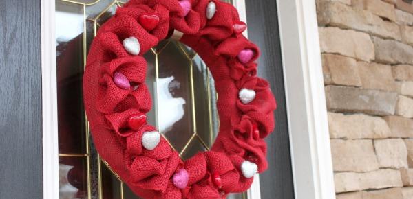 Burlap Amp Heart Valentine Wreath Wait Til Your Father