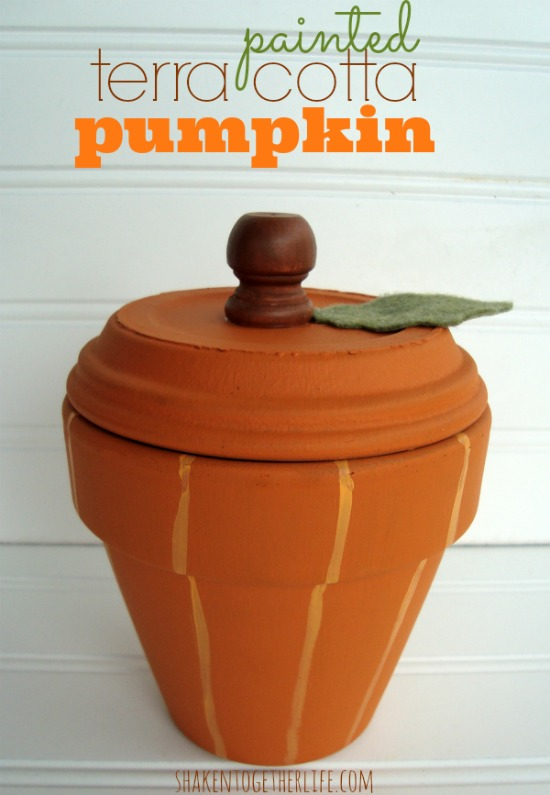 Painted-terra-cotta-pumpkin