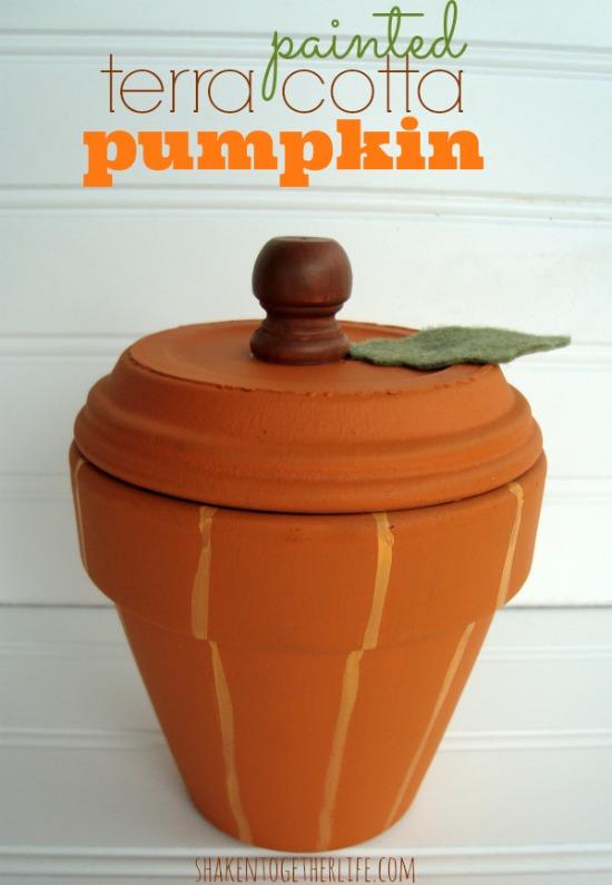 Painted-terra-cotta-pumpkin