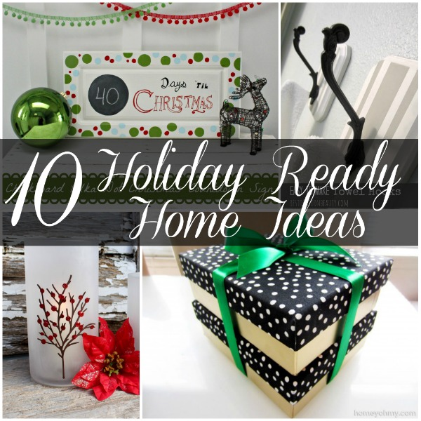 Holiday Ready Home Ideas #Holiday #Christmas #decor #Crafts #christmascraft