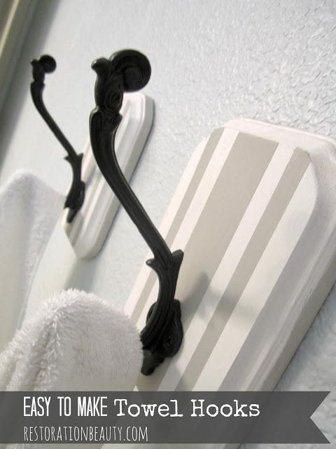 easy to make towel hooks