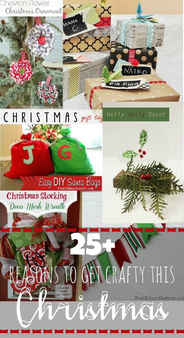 25+ Christmas Crafts and Christmas Projects via createcraftlove.com