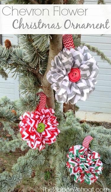 Chevron-Flower-Christmas-Ornaments-4