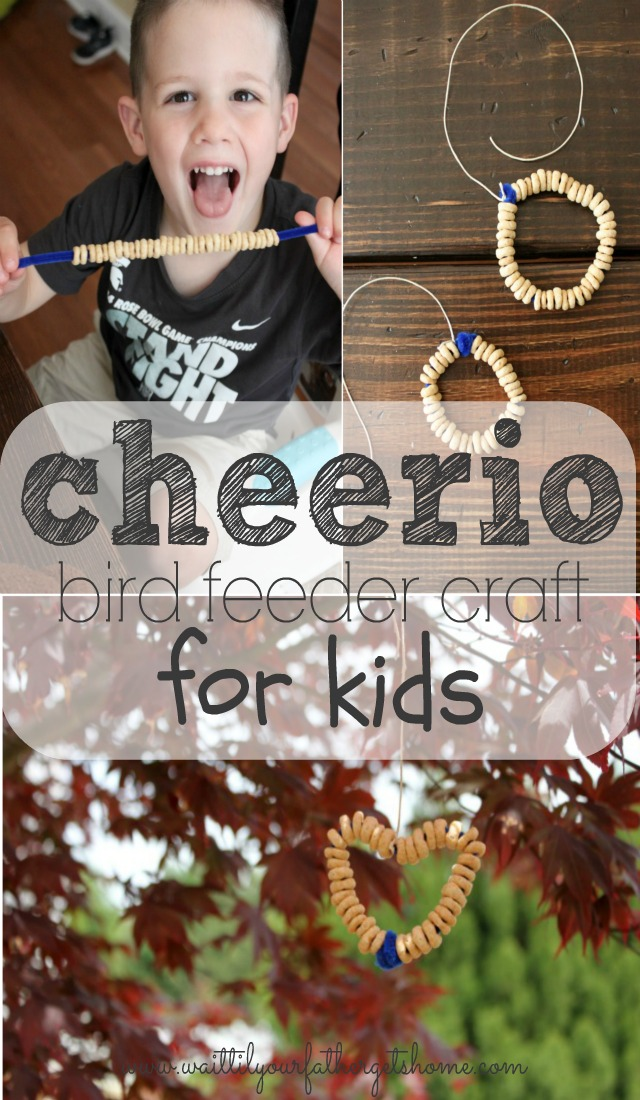 Cheerio Bird Feeder For Kids! (a DIY Craft For Kids)