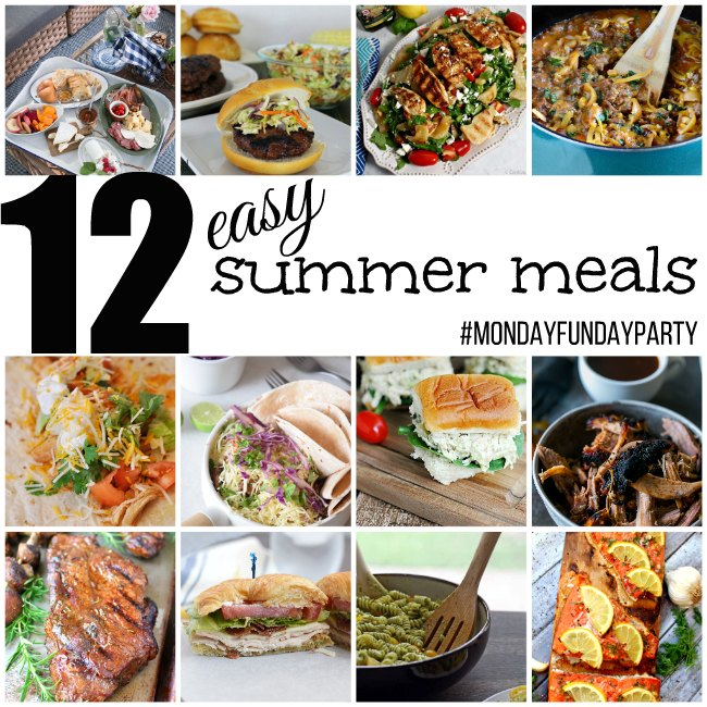 summer meal ideas monday funday link party